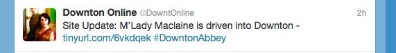 """Internationale Tweets rund um """"Downton Abbey"""""""